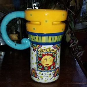 Large whimsical coffee/ tea mug